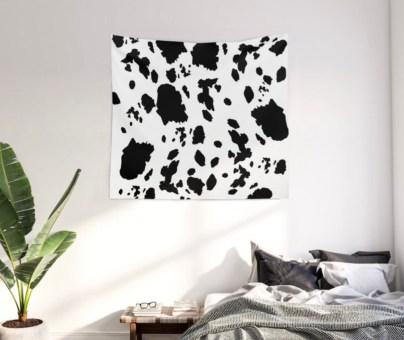 Cow Love Wall Tapestry designed by Visual Artist Keara Douglas of Delux Designs (DE), LLC