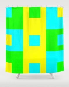 Summer Square Shower Curtain designed by Visual Artist Keara Douglas of Delux Designs (DE), LLC