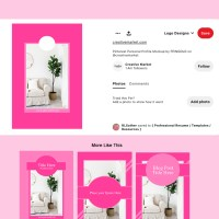 Premade Pink Pinterest Pin Templates