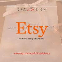 Memorial Programs/Flyers with Etsy