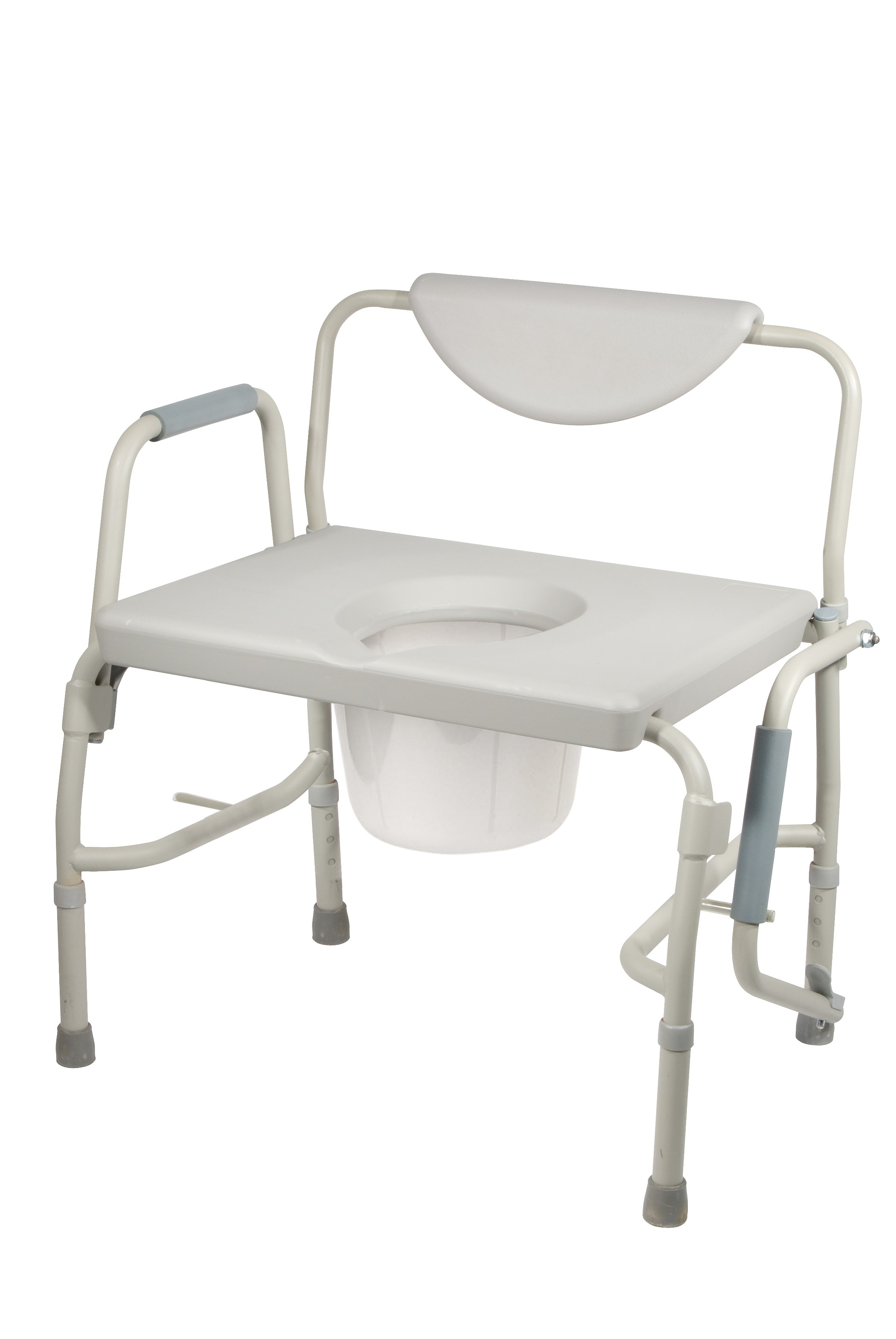 Bedside Commode Chair Bariatric Drop Arm Bedside Commode