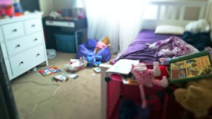 messy room in need of a cleaning service
