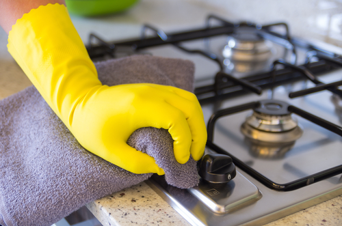 How do I deep clean my kitchen