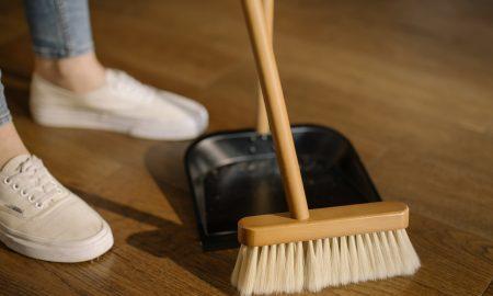 sweeping floors