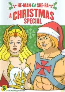"The Santa hat is actually a better disguise than his usual ""He-man but in a pink blouse"" one."