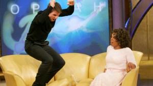 Tom Cruise jumping on oprah