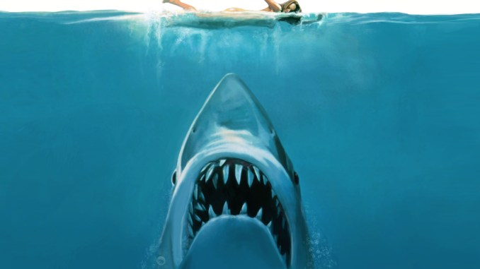Jaws movie poster. See It Instead Shark Edition.