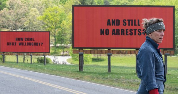 Movie Review: 3 Billboards Outside Ebbing, Missouri.