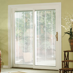 Vinyl Sliding Patio Door With Internal Blinds NJ