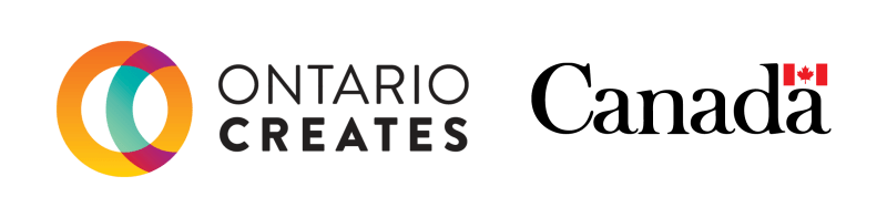Logos for Ontario Creates and the government of Canada.