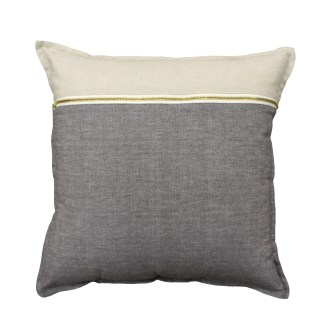 Cushion Bruno Zip Charcoal from ShutTheFrontDoor $65.00