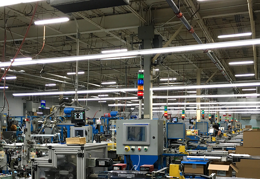 led linear lighting at the velcro factory
