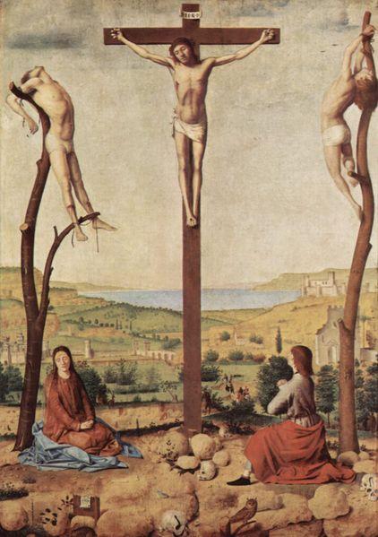 Antonello da Messina, Crocifissione, 1455, Anversa, Musée Royal de BeauxArts