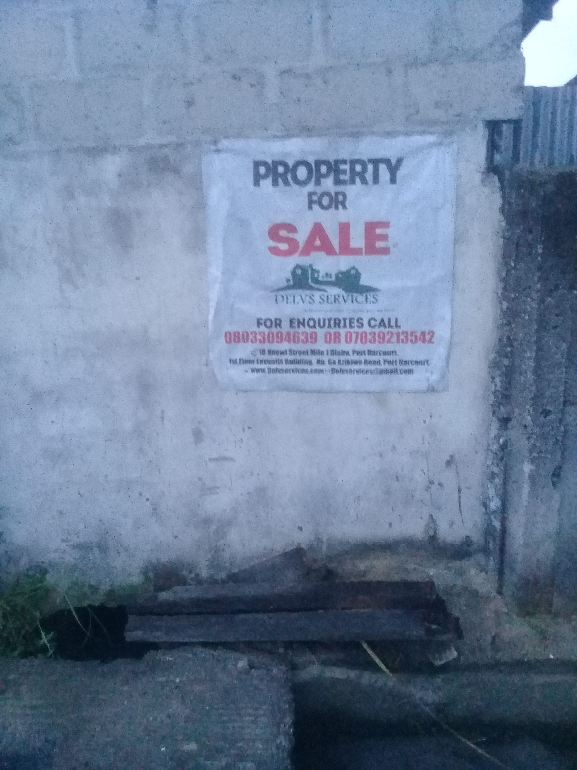 2 Plots of Land at Immanuel Road off Odili Road for sale
