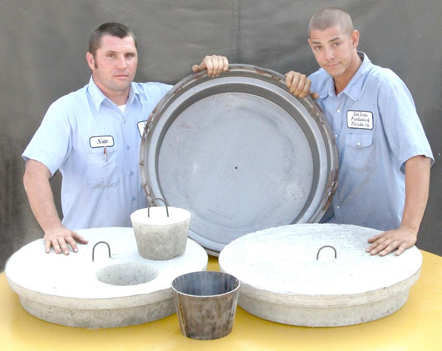 Manhole Lid Form For Septic Tanks  Del Zotto Concrete Products of FL