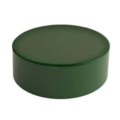 rond blikje donker groen