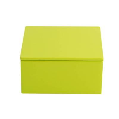 vierkant blikje lemon green