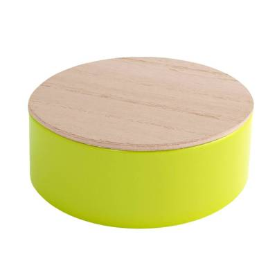 rond blikje hout lemon green