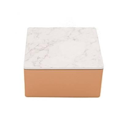 vierkant brons marmer wit