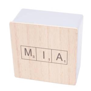 lette box met naam