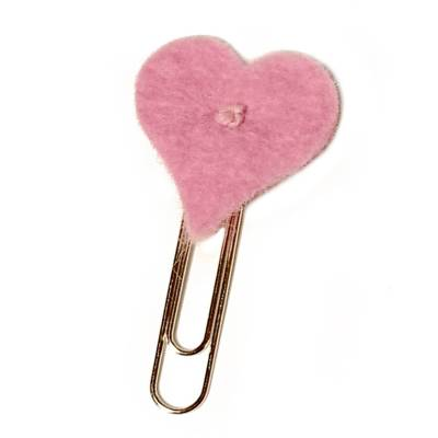 Hartje clips roze