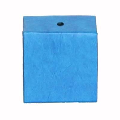 minidoosje lokta met gaatje turquoise