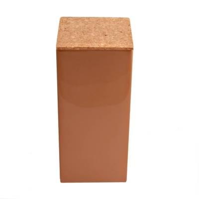 vierkant hoog kurk brons