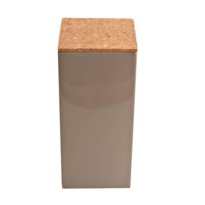 vierkant hoog kurk taupe