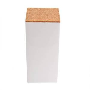 vierkant hoog kurk wit