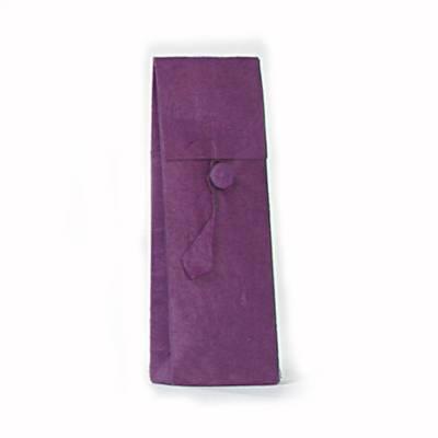 hoog zakje lokta knoopje violet