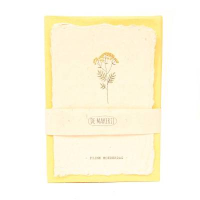 Kaart met envelop flower