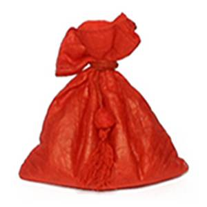zakje linnen en lokta rood
