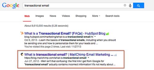 Google - Transactional email
