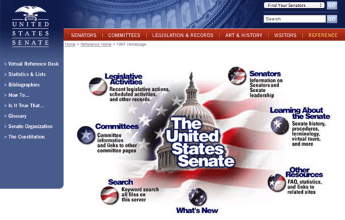 U.S. Senate: Reference Home > 1997 Homepage