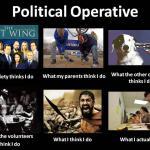 worked in politics