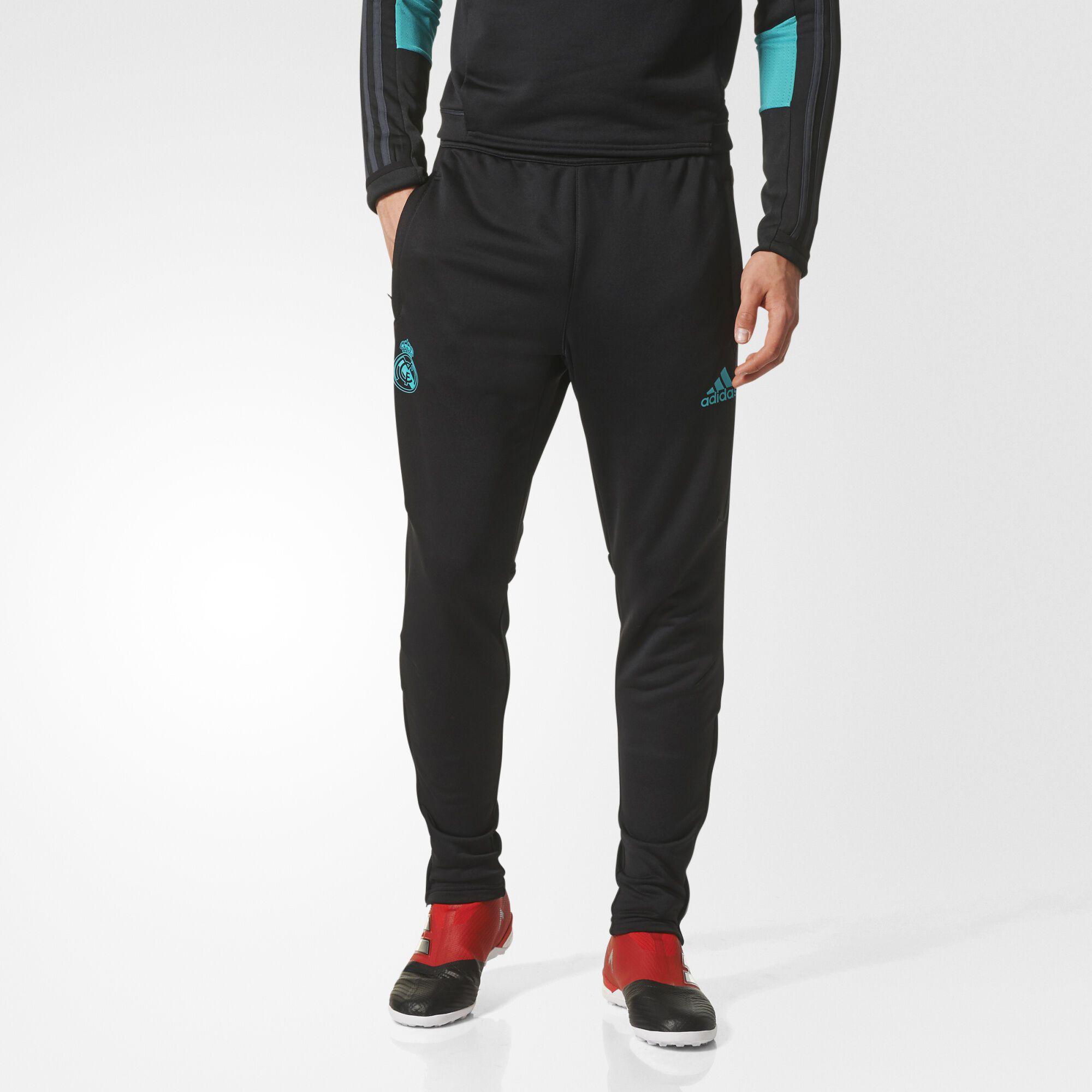 adidas real madrid replica training pants black solid grey bq