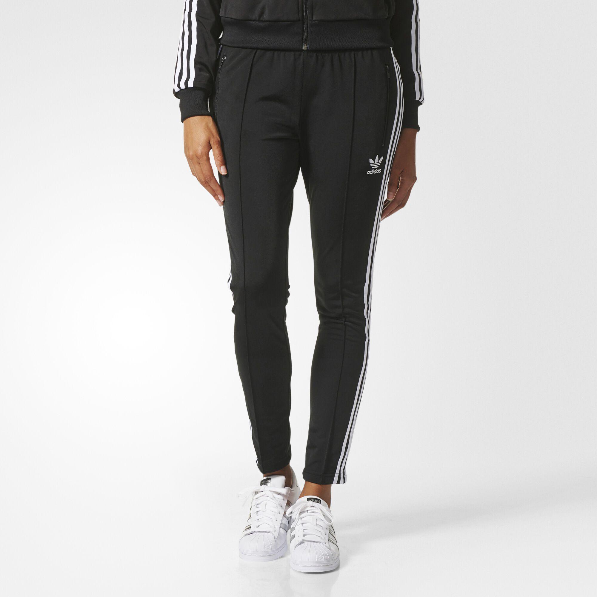 adidas superstar track pants black bk