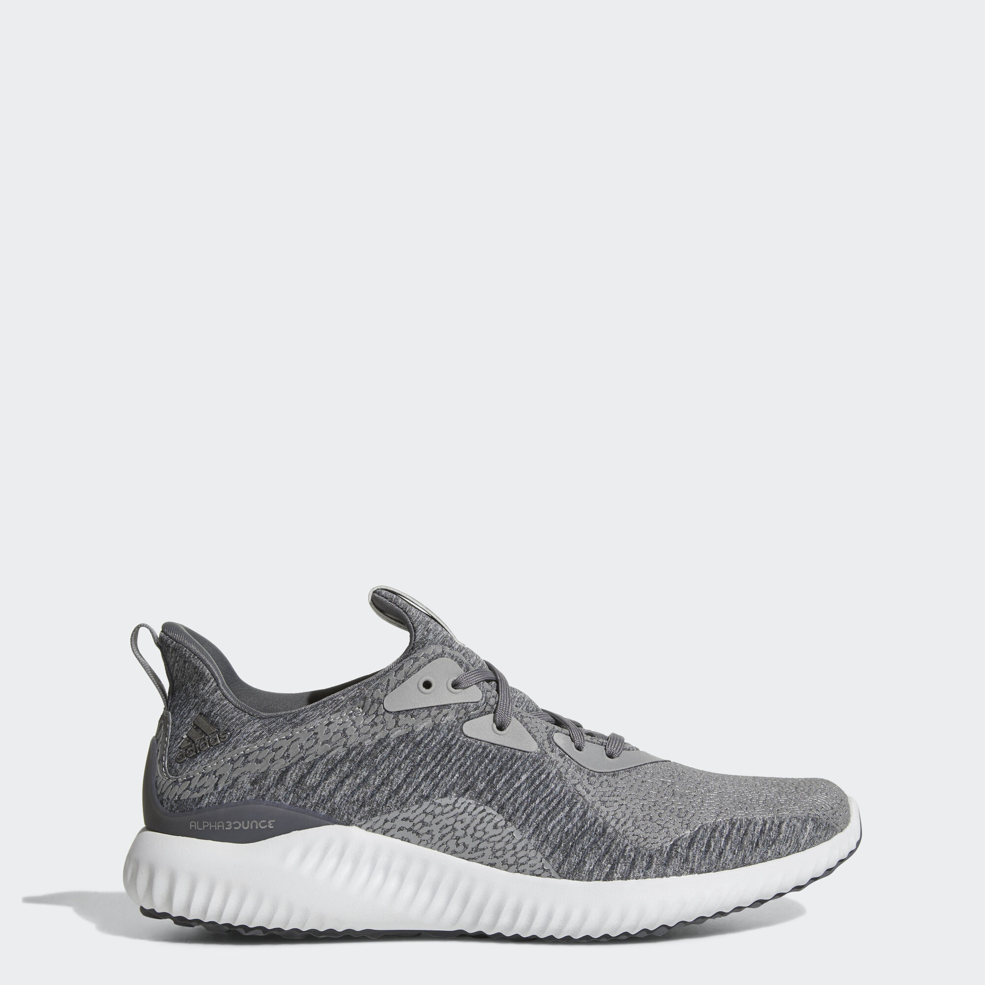 adidas alphabounce ams shoes medium grey heather running white by