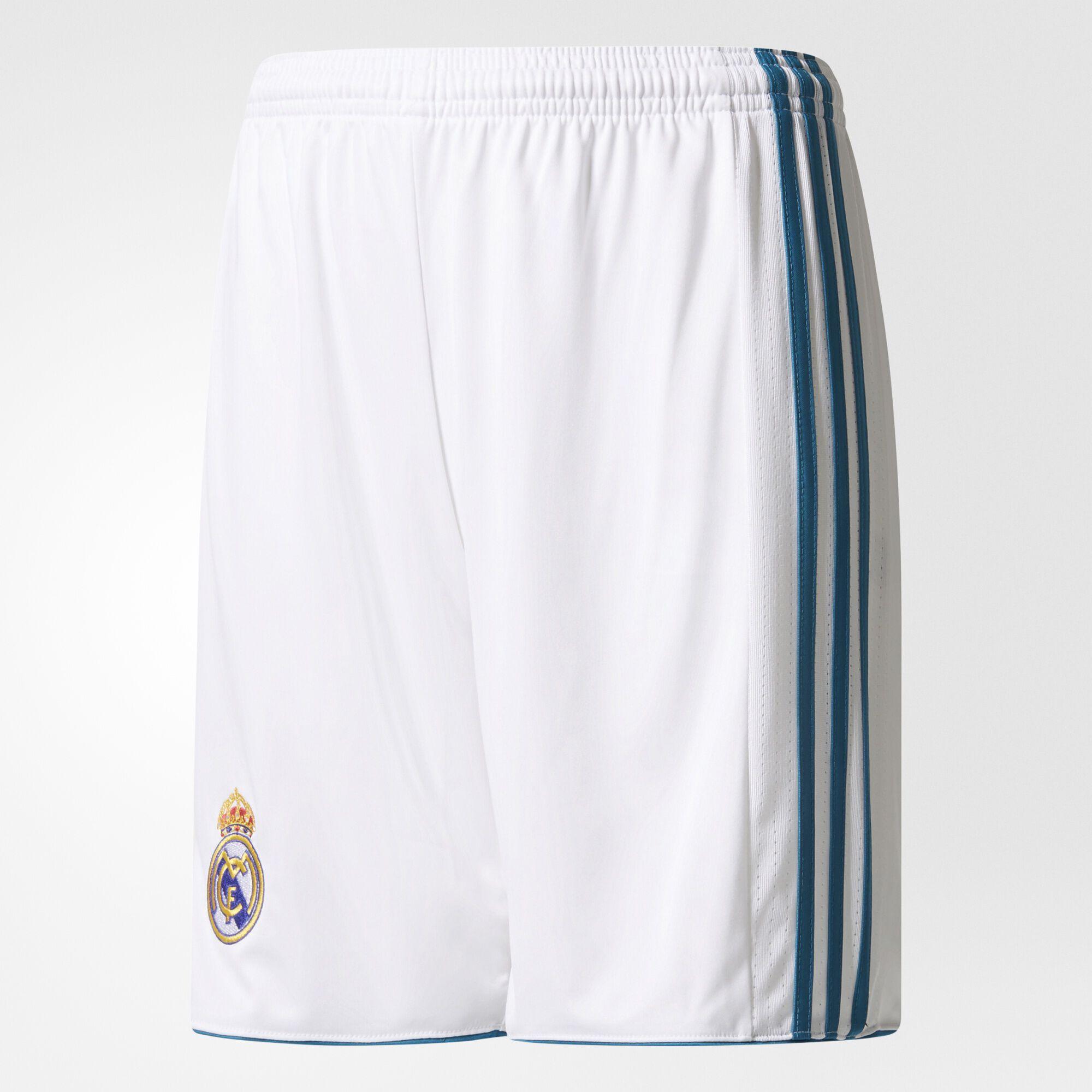 adidas real madrid home replica shorts white vivid teal b