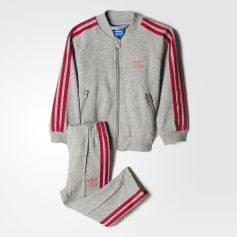 adidas - Trefoil Track Suit Medium Grey Heather  /  Pink Buzz BK4630