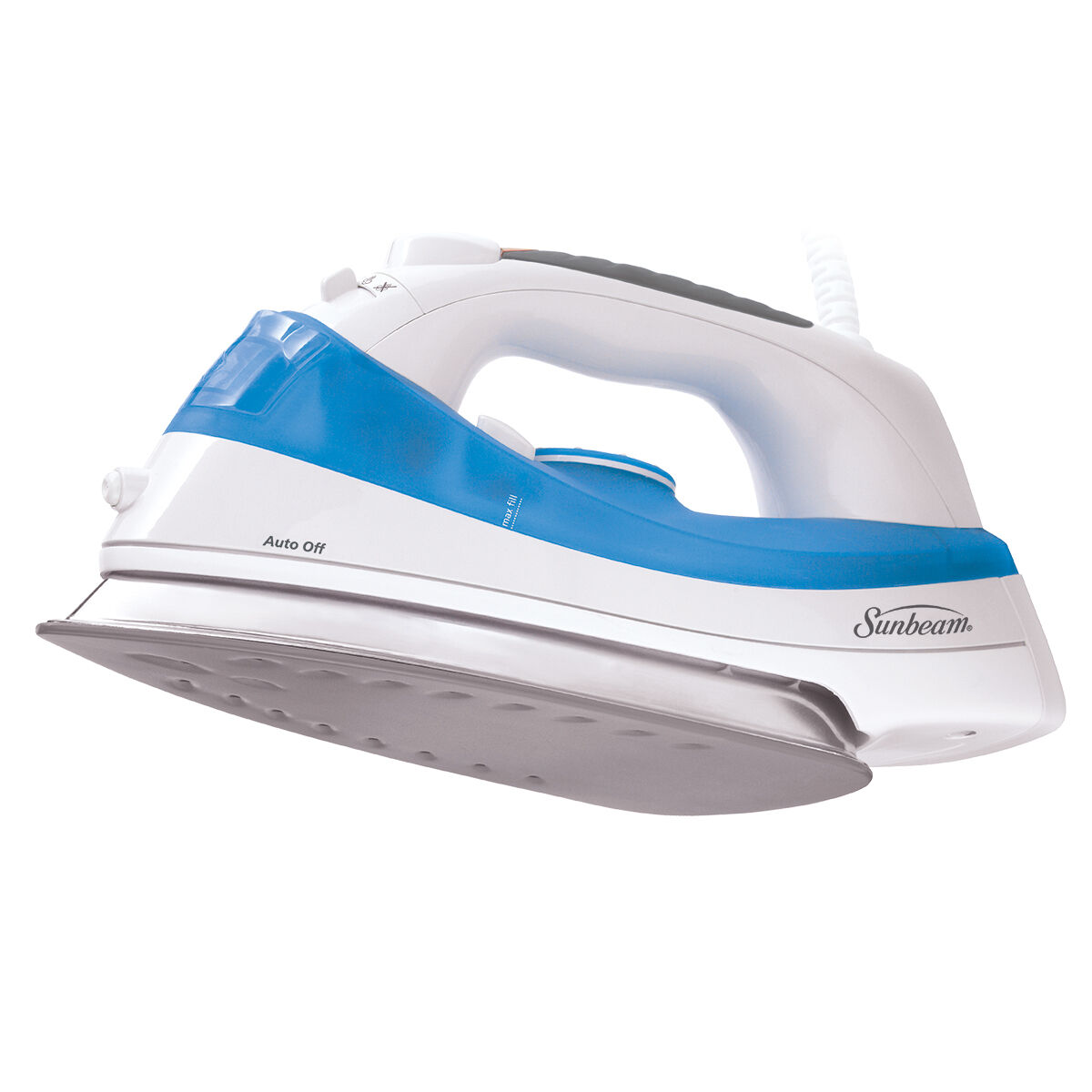 sm kitchen appliances 2 person table sunbeam® simple press™ iron, white & blue
