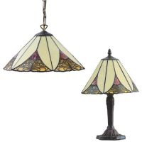 "Tiffany Lamp Set ""Kayla"""