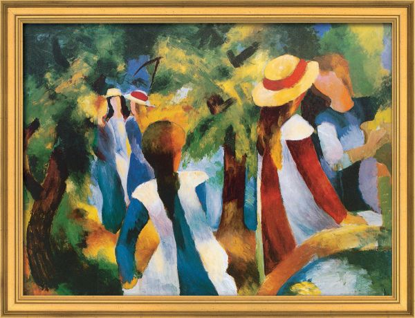 August Macke Girls Under Trees