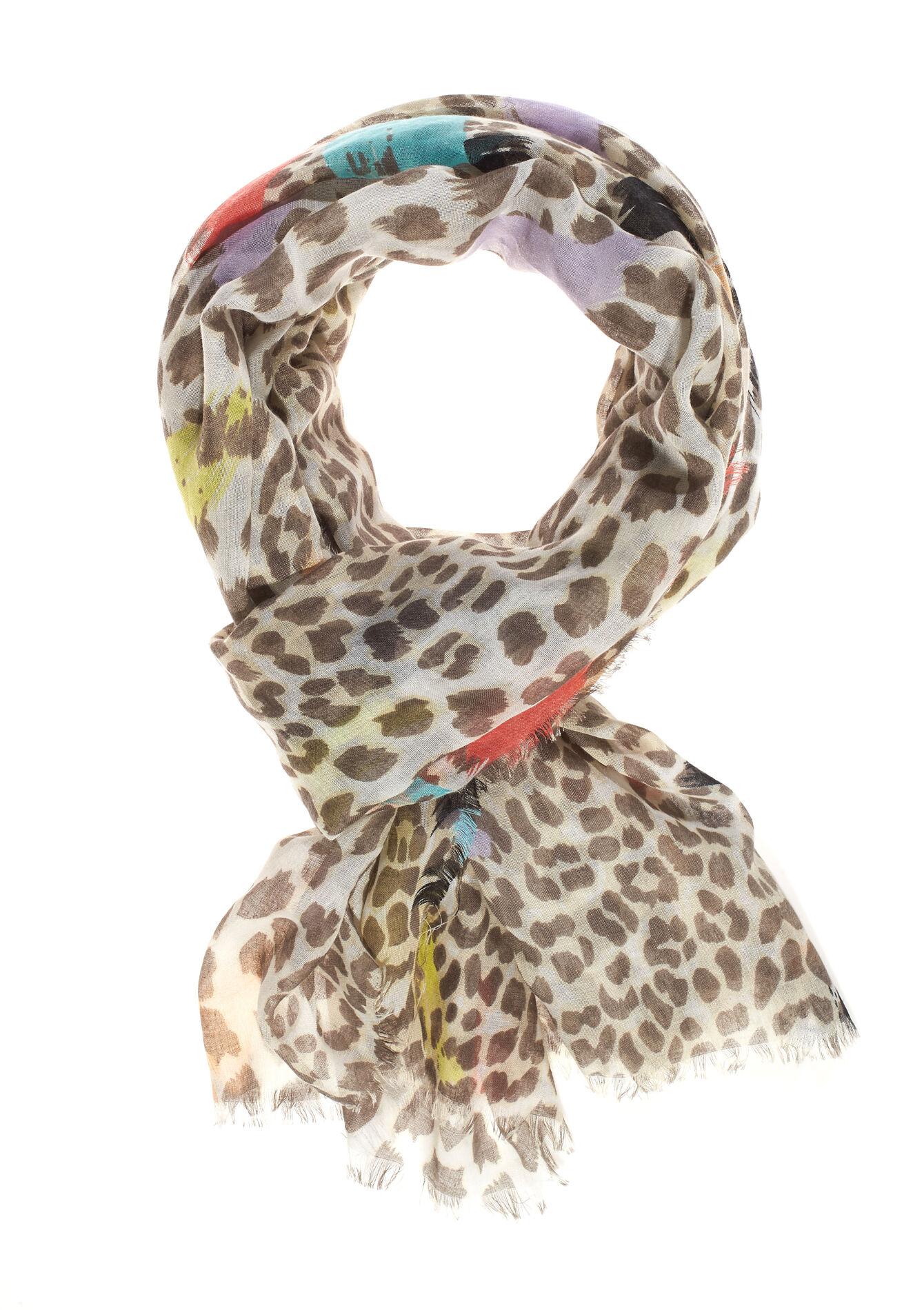 Echarpe imprimé léopard - TAUPE - 17001112_1021