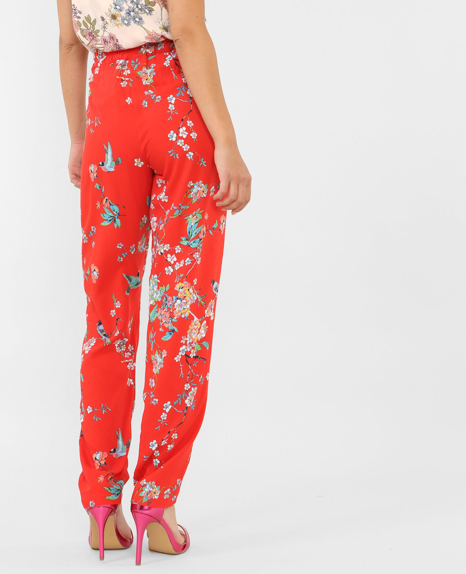 Pantalon fluide rouge