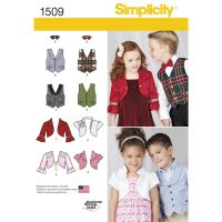 Pattern for Child's Vest, Bolero and Bow Tie   Simplicity