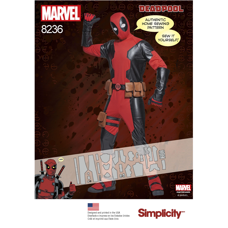 Pattern 8236 Men's Marvel Deadpool Costumes