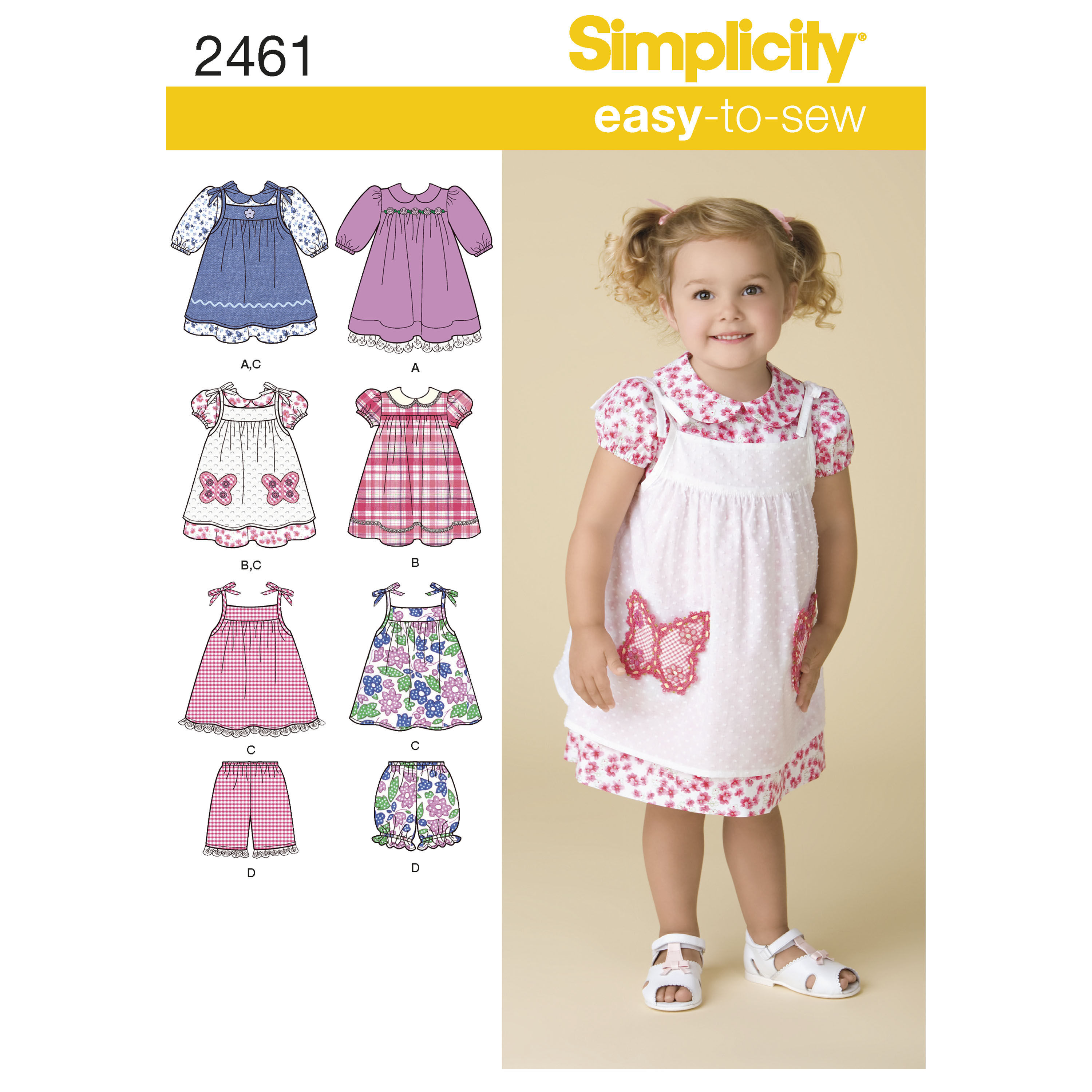 Pattern For Toddlers Dresses Simplicity