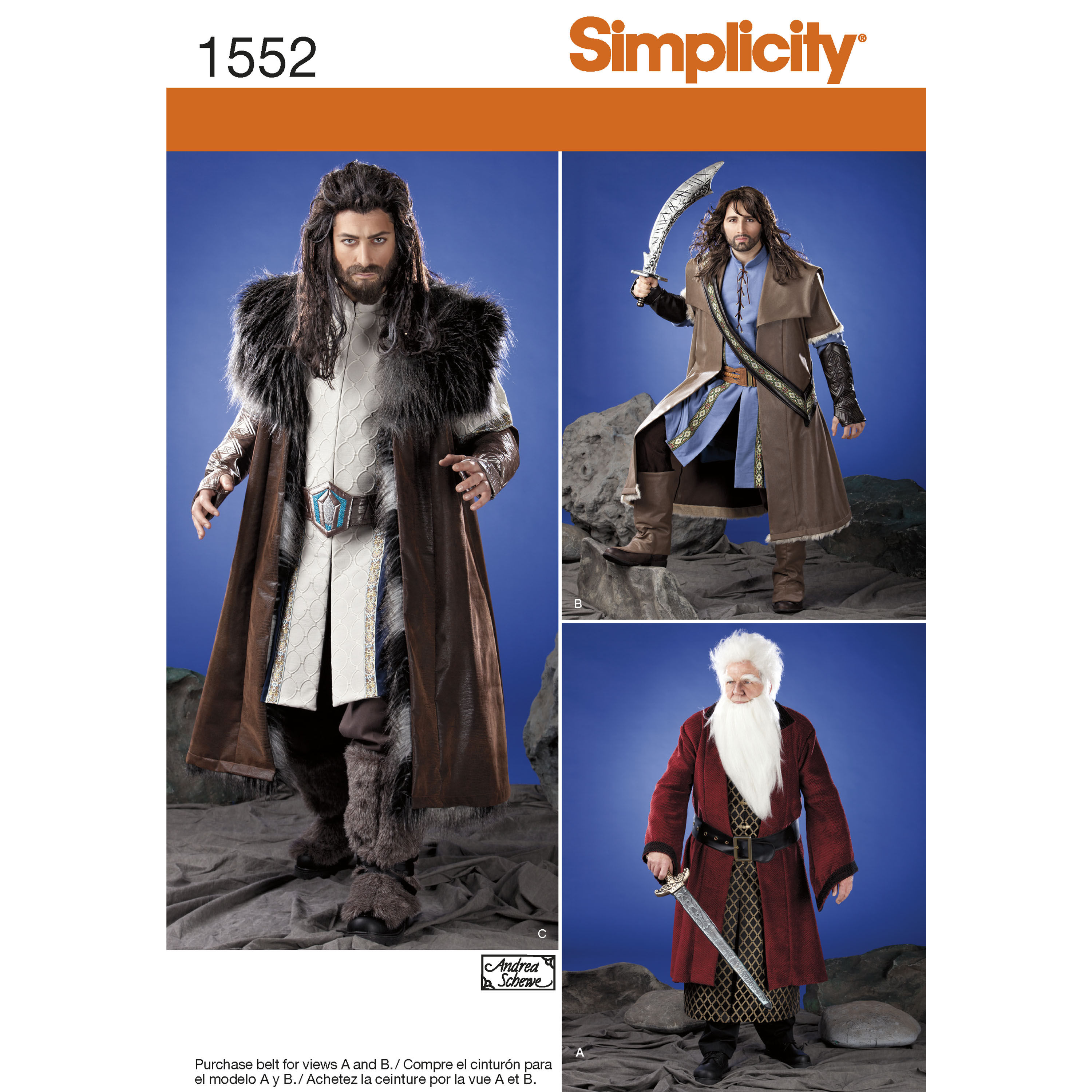 Pattern for Mens Medieval Tunic Cloak and Accessories  Simplicity