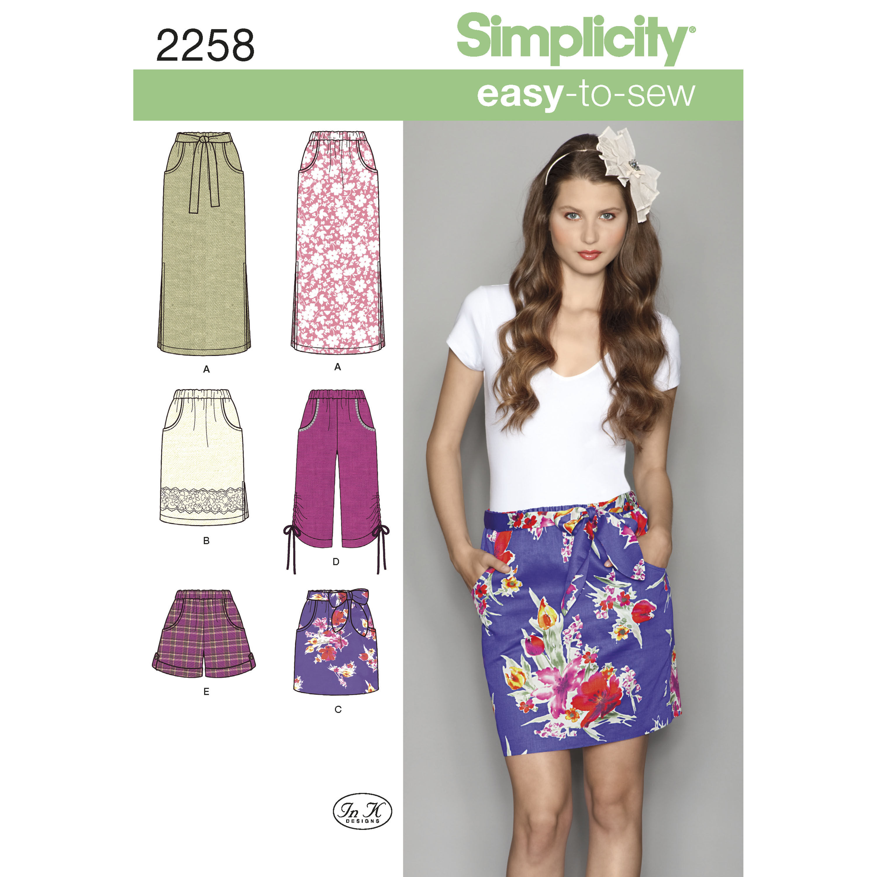 Simplicity Pattern 2258 Misses' Easy-to-Sew Skirts & Shorts